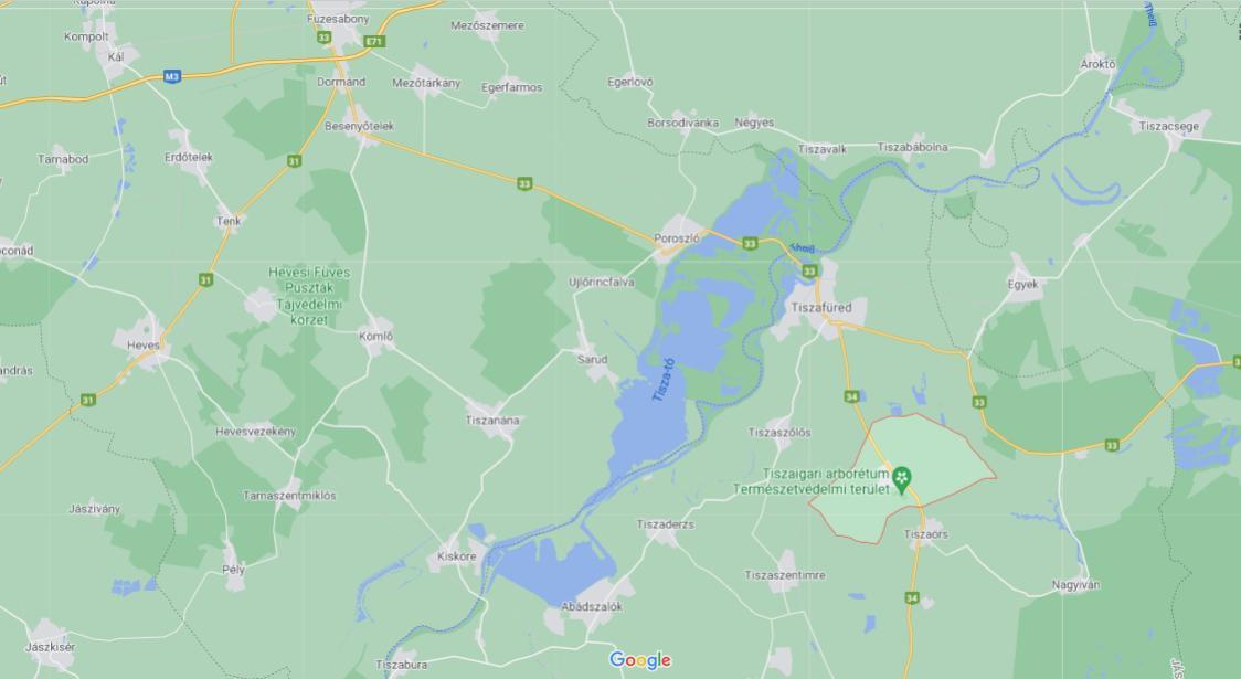 Karte Theiß-See